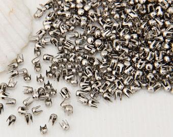 1000 Silver Copper Round Rivet Spike Studs Spots DIY Rock Punk 2.5mm-L862