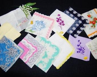 Hankie Collection of Fresh Flowers......One Dozen