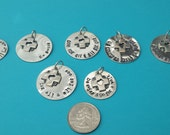 1 SWISS themed charm One for All  and All for One! Sterling Silver