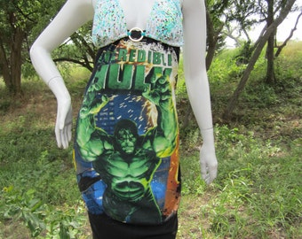 Incredible Hulk t shirt bikini dress