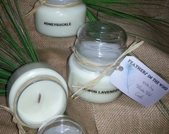 100% soy wooden wick candle choice of scent 12oz