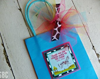 Horse Favor Bags with Handles...Set of 10 Favor Bags with Handles