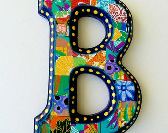 Wall letter B, Nursery letter B, Wall decor B