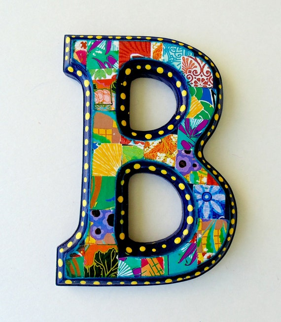 Wall Decor Letter B : Items similar to wall letter b nursery