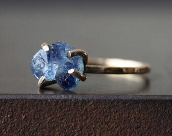 Raw Sapphire Ring