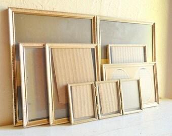 Matching Hollywood Regency Gold Metal Picture Frames All Sizes 8x10 5x7 Bi-fold Folding
