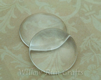 10 Pack 20mm Glass Circle Cabochons for earrings, pendants, ring blanks (09-11-670)