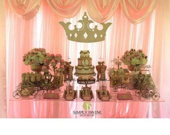 3' wide wooden crown tiara