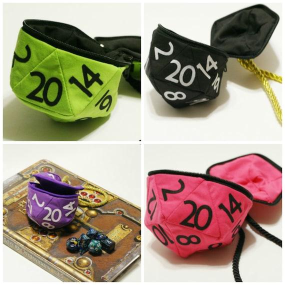 D20 Dice Bag (Small) Custom Bag, Dragons, DND, coin purse bag, gamer, geek, tabletop gaming, gamer, d20 bag