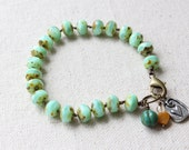 Mint Green Hand Knotted Bracelet
