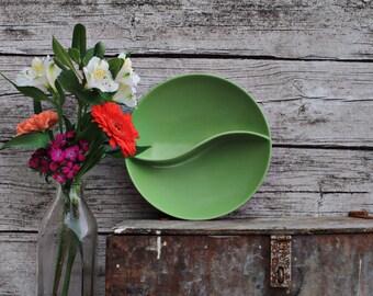 Avocado Swirl Sectioned Bowl