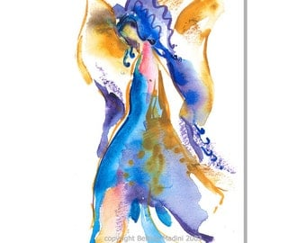 Angel of Joy - Wealth of Joy from an angel - Beautiful fine art limited edition (giclee) print of my original painting