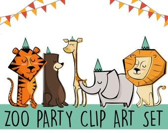 Printable ZOO Animals Clip Art Set Print at home Edit yourself