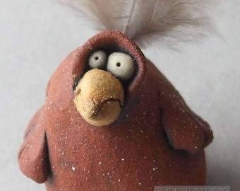 Rattle Bird Sculpture (Clay Shaker)