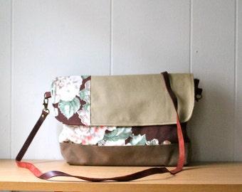 Vintage Fabric Crossbody Shoulder Bag - Long Strap