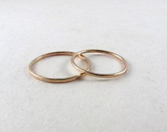 Gold filled knuckle ring, gold mid finger ring