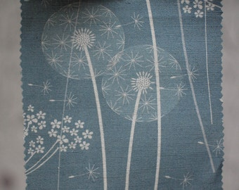 SAMPLE of paper meadow fabric in teal