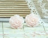 Light Pink Earrings Rose Stud Earrings Pink Rose Earrings Hypoallergenic Pink Flower Earrings Pink Rose Studs
