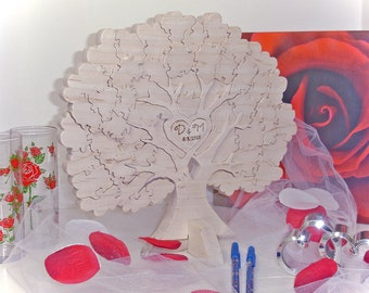 Wedding Tree 3d Puzzle Guest Book  - Family Tree Puzzle