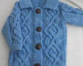 Aodhan aran jacket for baby and toddler PDF knitting pattern