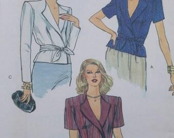 Vintage Vogue Pattern 7567 Misses Top Pattern. Misses Size 10 Very Easy Vogue Patterns