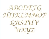 Wooden Craft Letters in Lucidia Calligraphy font - unpainted letter, alphabet letters, wooden alphabet, wooden initials, plywood letters