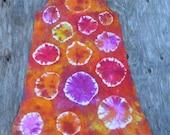 Firework Spots & Dots Spaghetti Strap Mini Dress (Dharma Trading Co. 100% Cotton Size L) (One of a Kind)