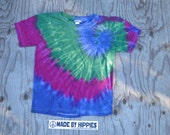 Twilight Spiral Tie Dye T-Shirt (Gildan Youth Size S) (One of a Kind)