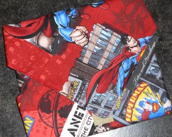 Reusable Eco Friendly Sandwich Wrap Flying Superman in Red  / picnic / School / Travel