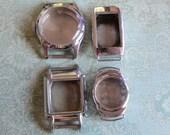 Vintage  Watch parts - watch Cases -  Steampunk - Scrapbooking  b97
