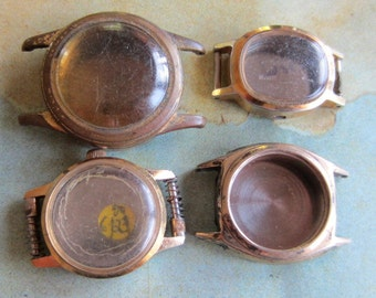 Vintage  Watch parts - watch Cases -  Steampunk - Scrapbooking  i78