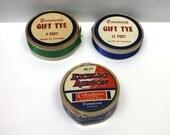 Vintage Christmas ribbons,Excello cellophane ribbon,Dennison's ribbon,blue,green,blue ribbon,green ribbon,