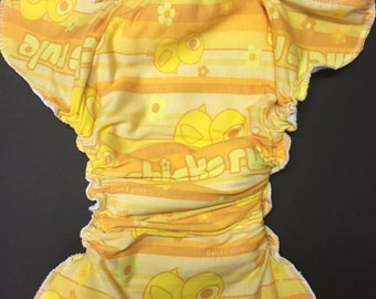 MMamaBear One Size Fitted Cloth T-shirt Diaper - Chicks Rule