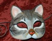 Brown Tabby Cat Mask Kitty Kitten Halloween Tiger