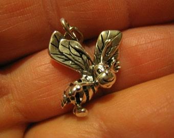 Honey Bee charm sterling