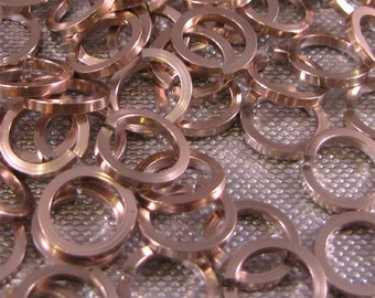 Square Jump Rings 18g 1/4 inch Champagne