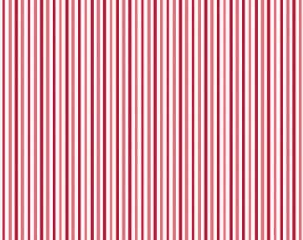 FALL SALE - Merry Matryoshka - Stripe in Red - Sku C4383 - 1 Yard - by Carly Griffith for Riley Blake Designs