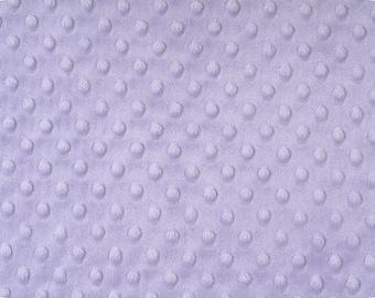 Lavender Minky Dot, 1 HALF yard, Shannon Fabrics