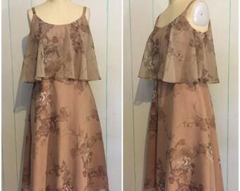Floral Handmade 60's Dress