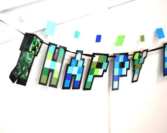 Video Game Party Banner, Video Gamer Birthday Banner, Gamers Birthday Party Banner, HAPPY BIRTHDAY Video Game Banner, Gamer Party Decor