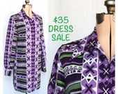 SALE! Vintage 60s Whats New Pussycat Dress Medium