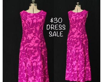 SALE! Vintage 60s Island Holiday with Matisse Maxi Dress