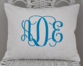 Personalized Pillow Cover Baby Gift Shower Gift Wedding GIft  WITH INSERT Choose Your Size and Style