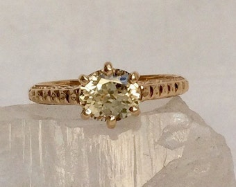 Stunning Yellow Sapphire Engagement Ring