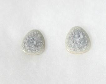 Lavender Cracked Glass Earrings
