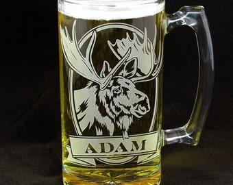 4 Personalized Moose Mugs, Woodland Wedding Personalized Groomsmen Gifts