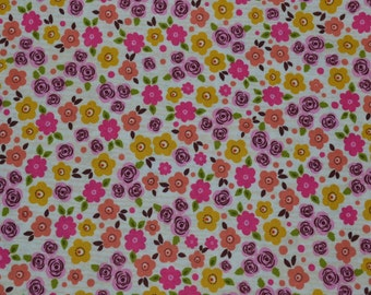 One Yard of Tossed Country Flowers Fabric