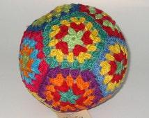 PATCHWORK BALL / fair trade toys / soft balls / crochet toys / stuffed toys / stuffed balls / infant toy / infant stuffed toys / infant ball