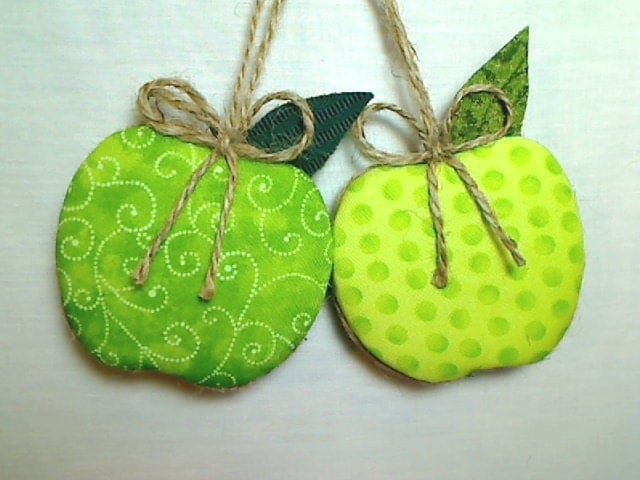 Green Apple Ornament Home Decor Apple Party Favor By