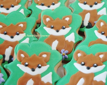 Forest fox cookies 1 dozen